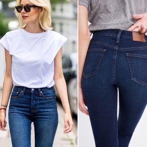 "Madewell // 10"" High Rise Skinny Jeans"